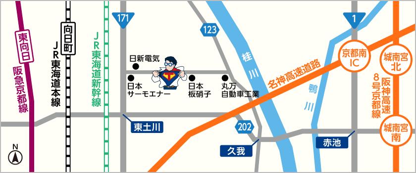 特急印刷の地図
